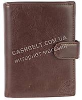 Стильный прочный бумажник портмоне из натуральной качественной кожи CEFIRO art. CE557-3073B-3 коричневый