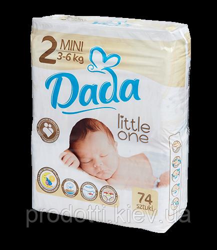 Подгузники Dada Little one 2 MINI - 74 шт. / 3-6 кг