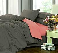 Полуторное постельное белье, сатин однотонный, микс №240+№132