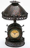 Часы настольные металлические в форме лампы с абажуром 36см