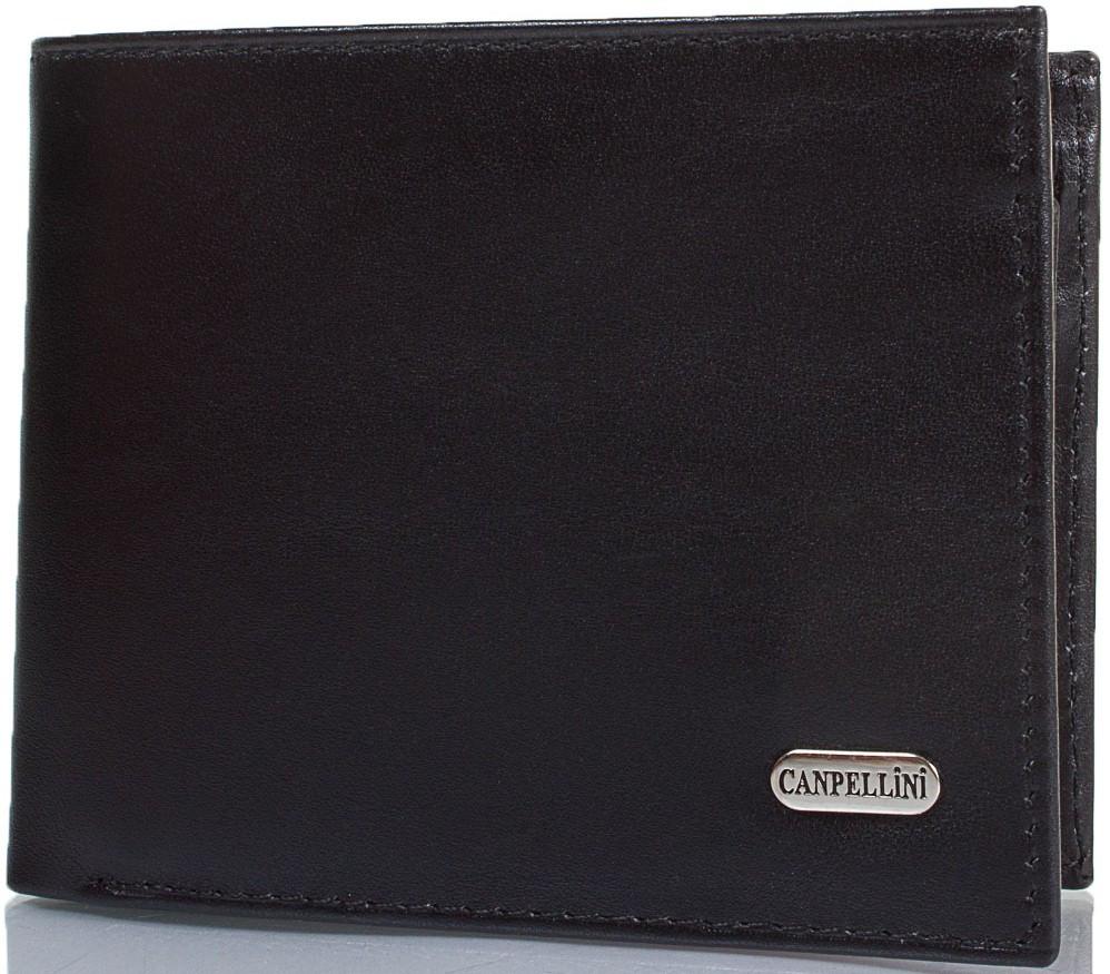 Стильный мужской кошелек из натуральной кожи CANPELLINI SHI1108-1 черный