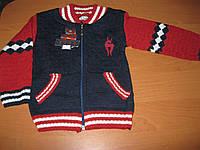 Детская теплая зимняя кофта- поло для мальчиков 1-3 года Турция