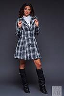 Теплое женское пальто на подкладке