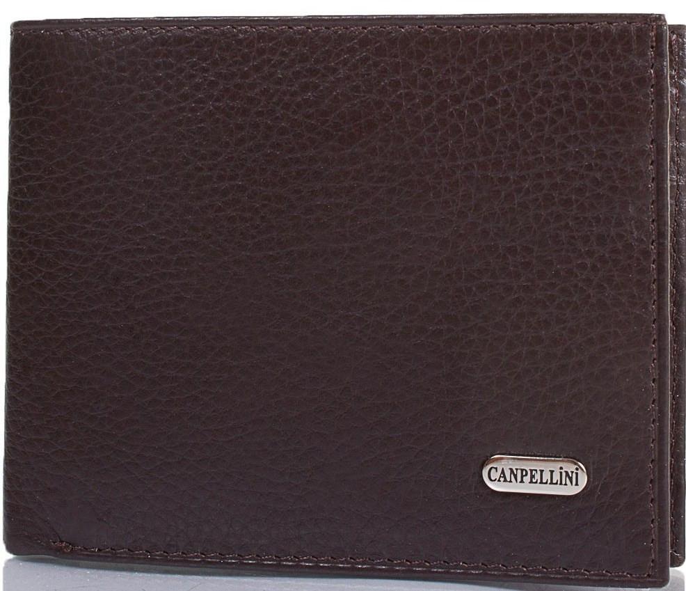 Мужской кошелек из натуральной кожи CANPELLINI SHI1108-14 коричневый