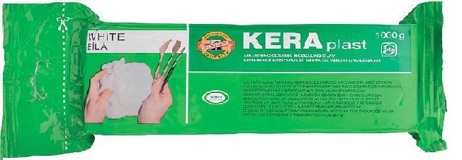 Пластилін KOH-I-NOOR 131706 KERAPLAST 1000г БІЛИЙ, фото 2