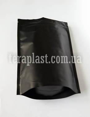 Дой-Пак 150г черный 130х200 с зип замком, фото 2