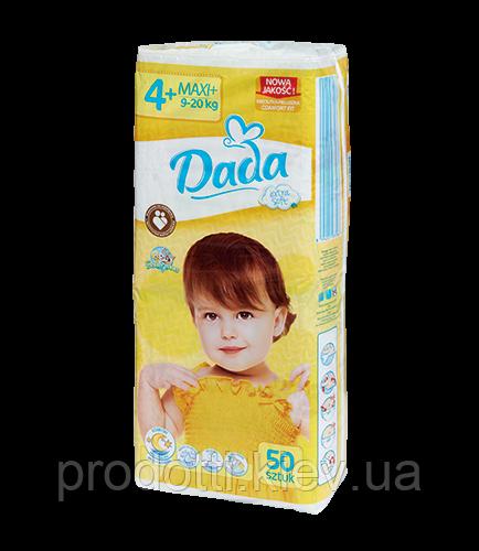 Подгузники Dada Extra soft 4+ MAXI+  50 шт.  9-20 кг