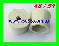 Пробка резиновая ø48-51mm для гидрозатвора на бутыль с отверстием ø 10mm под гидрозатвор