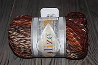 Акриловые меланжевые нитки для ручного вязания