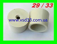 Пробка резиновая ø29-33mm для гидрозатвора на бутыль с отверстием ø 10mm под гидрозатвор