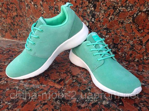 Женские кроссовки Nike Roshe Run (Кожа) Мятные, фото 2
