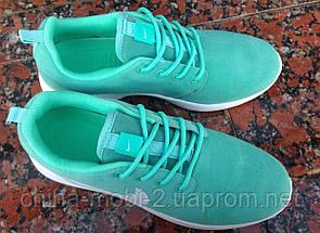Женские кроссовки Nike Roshe Run (Кожа) Мятные, фото 3