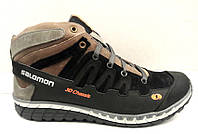 Мужские ботинки Salomon зимние кожа/замша Sa0003