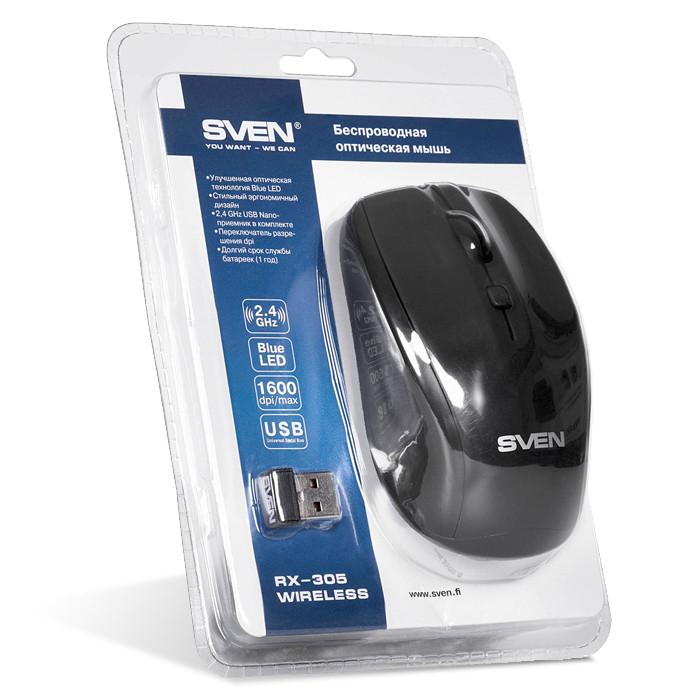 Мышь беспроводная Sven RX-305 USB