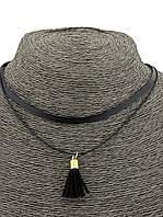 Модный чокер на шею с подвеской-кисточкой