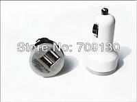 Зарядка USB в прикуриватель на два выхода, автомобильная зарядка usb (БЕЛАЯ)