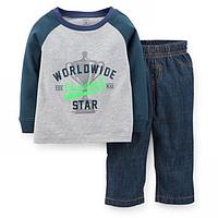 Комплект двойка Carters Всемирная звезда, Размер 24м, Размер 24м
