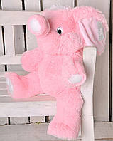 Мягкая игрушка Слон  80 см розовый №3, С6-18 (слон игрушка)