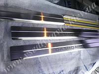 Защита порогов - накладки на пороги Nissan QASHQAI +2 с 2008 г. (Standart)