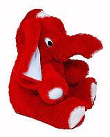 Мягкая игрушка Слон  55 см красный №1, С6-12 (слон игрушка)