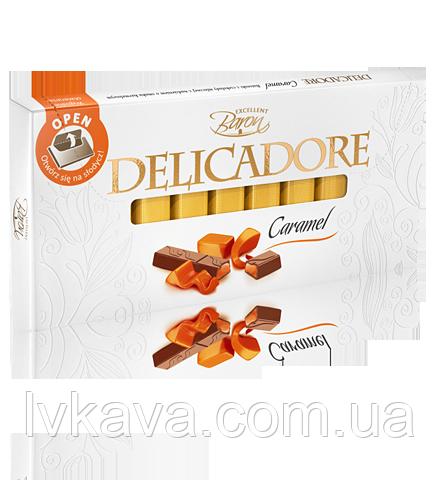 Молочный шоколад Delicadore Caramel ,200 гр