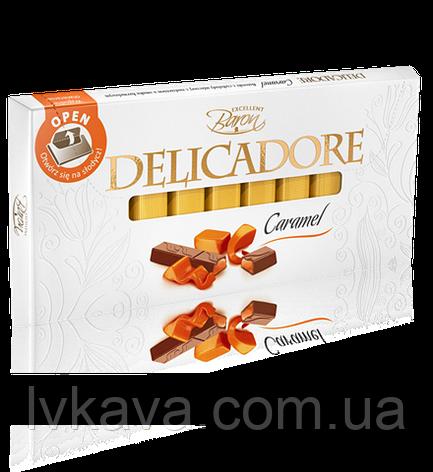 Молочный шоколад Delicadore Caramel ,200 гр, фото 2