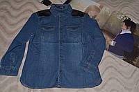 Джинсовая рубашка Италия  Street Gang 32 размер.