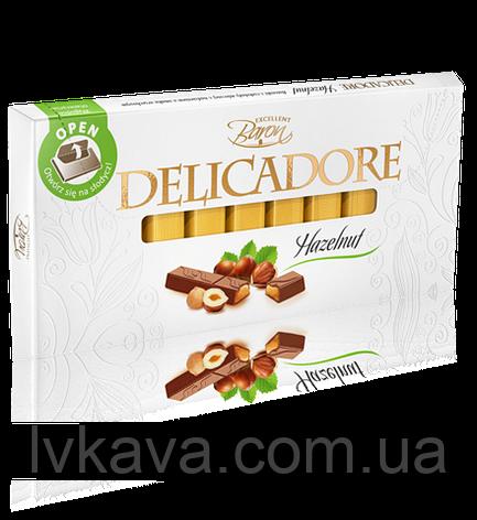 Черный шоколад Delicadore Hazelnut ,200 гр, фото 2