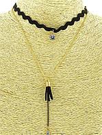 Короткое ожерелье ошейник женский с подвесками