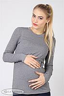 Лонгслив для беременных и кормящих Maria серый меланж (50 р), фото 1