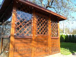 Прозрачные ПВХ шторы для альтанки