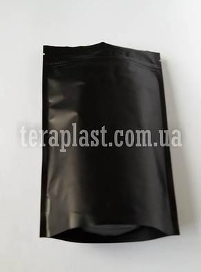 Дой-Пак 250г черный 140х240 с зип замком, фото 2