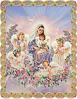 """Схема для вышивки бисером """"Мария с ангелочками"""""""