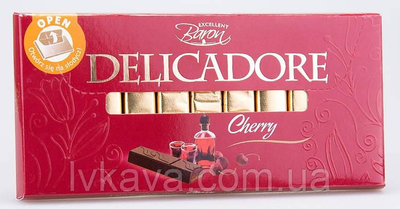 Черный шоколад Delicadore Cherry ,200 гр, фото 2