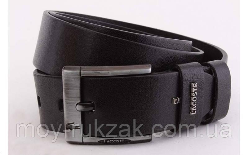 Ремень мужской кожаный Lacoste ширина 45 мм, реплика 930371