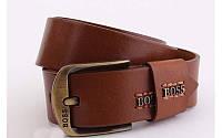 Ремень мужской кожаный Boss ширина 45 мм 930372