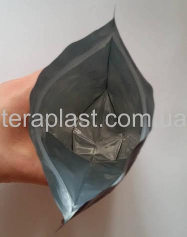 Дой-Пак 500г черный 180х280 с зип замком, фото 2