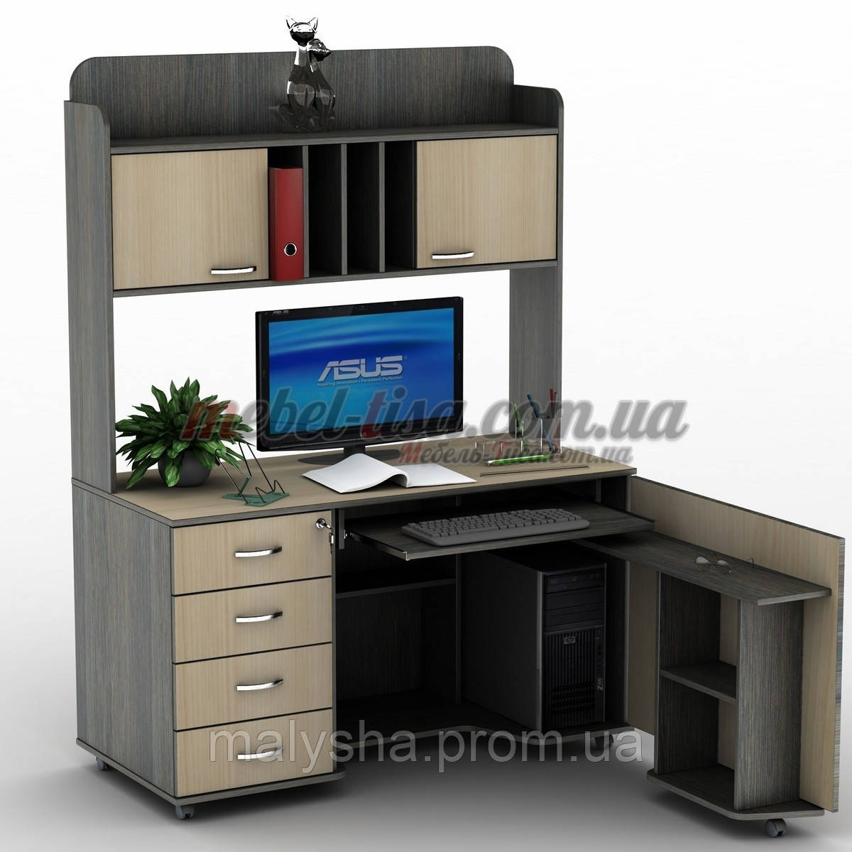 Прямой компьютерный стол су-16.