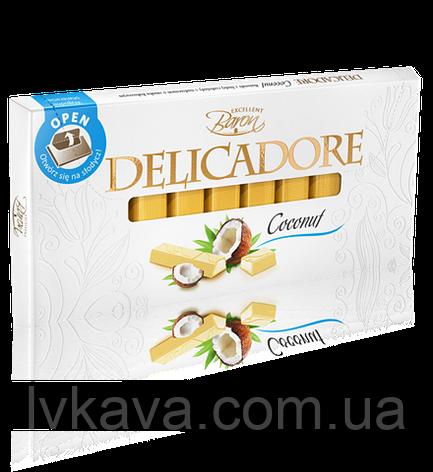 Белый  шоколад Delicadore Coconut ,200 гр, фото 2