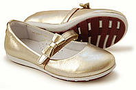 Детские туфли для девочки золотые р.32,35