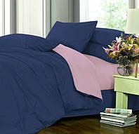 Полуторное постельное белье, Сатин однотонный, микс №4052+№005