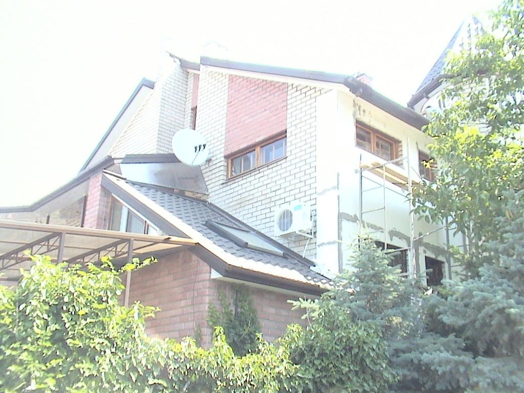 """Утепление пенопластом частного дома с отделкой фасада декоративной штукатуркой ( """"короед"""" ) 3"""