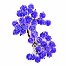 Ягоди в цукрі декоративні сині 12 мм