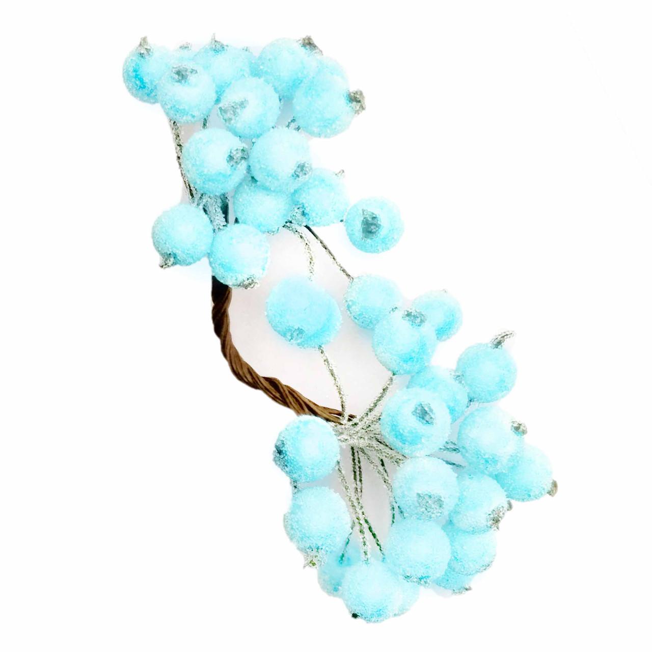 Ягоды в сахаре декоративные голубые 12мм