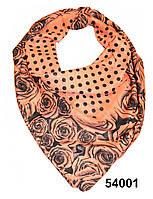 Платок хлопковый Роза терракотовый, фото 1