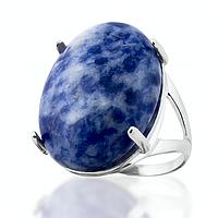 Содалит, серебро 925, кольцо, 103КЛ