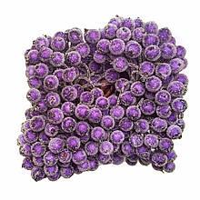 Ягідки в цукрі декоративні фіолетові 400 шт 12мм