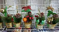 Елочка новогодняя  с украшениями 25 см