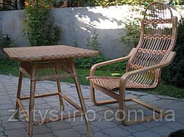 Крісла качалки плетені з лози