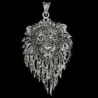 Авторское серебряное украшение унисекс с сапфирами